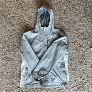 North Face Light Gray Rain Jacket